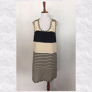 Ali Ro Striped Scoop Neck Sleeveless Shift Dress